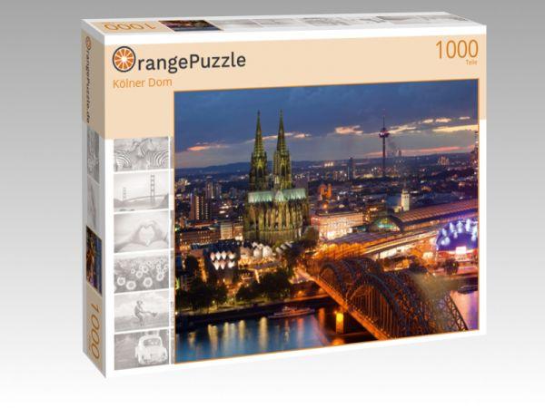 """Puzzle Motiv """"Kölner Dom"""" - Puzzle-Schachtel zu 1000 Teile Puzzle"""