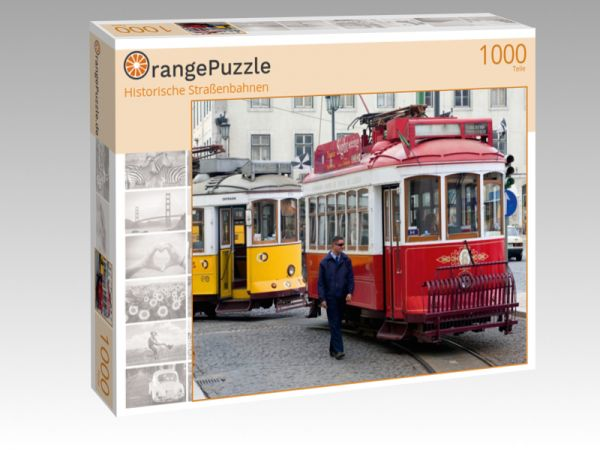 """Puzzle Motiv """"Historische Straßenbahnen"""" - Puzzle-Schachtel zu 1000 Teile Puzzle"""