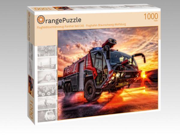 """Puzzle Motiv """"Flugfeldlöschfahrzeug Panther 6x6 CA5   Flughafen Braunschweig-Wolfsburg"""" - Puzzle-Schachtel zu 1000 Teile Puzzle"""