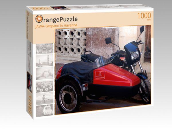"""Puzzle Motiv """"JAWA-Gespann in Havanna"""" - Puzzle-Schachtel zu 1000 Teile Puzzle"""
