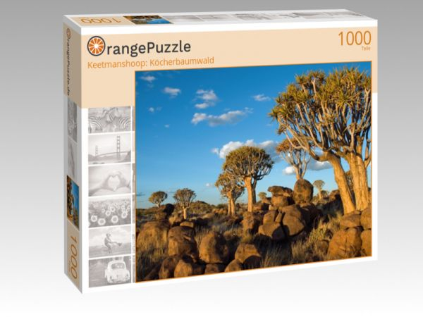 "Puzzle Motiv ""Keetmanshoop: Köcherbaumwald"" - Puzzle-Schachtel zu 1000 Teile Puzzle"