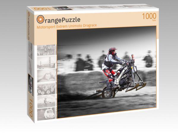 """Puzzle Motiv """"Motorsport Extrem Unimoto Dragrace"""" - Puzzle-Schachtel zu 1000 Teile Puzzle"""