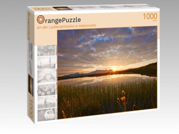 """Puzzle Motiv """"An der Lackenalmlacke in Altenmarkt"""" - Puzzle-Schachtel zu 1000 Teile Puzzle"""
