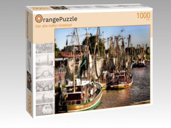 """Puzzle Motiv """"Der alte Hafen Greetsiel"""" - Puzzle-Schachtel zu 1000 Teile Puzzle"""