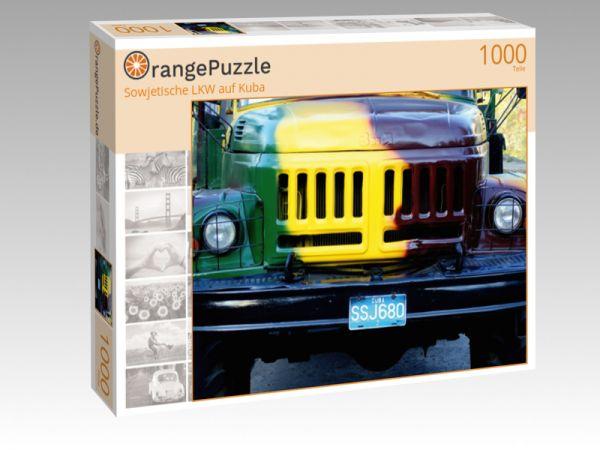 """Puzzle Motiv """"""""Sowjetische LKW auf Kuba"""""""" - Puzzle-Schachtel zu 1000 Teile Puzzle"""