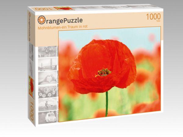 """Puzzle Motiv """"Mohnblumen-ein Traum in rot"""" - Puzzle-Schachtel zu 1000 Teile Puzzle"""