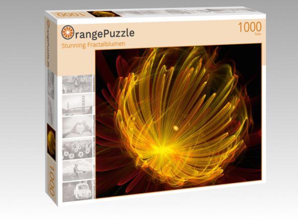 """Puzzle Motiv """"Stunning Fractalblumen"""" - Puzzle-Schachtel zu 1000 Teile Puzzle"""