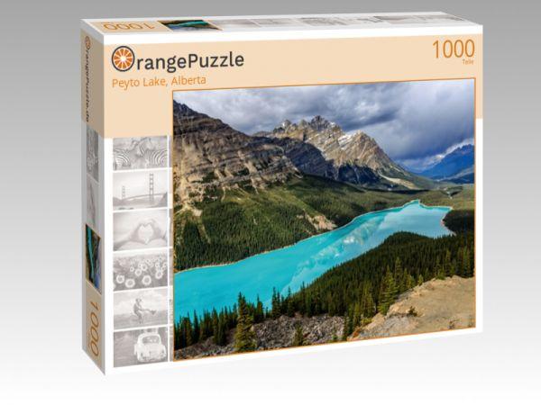 "Puzzle Motiv ""Peyto Lake, Alberta"" - Puzzle-Schachtel zu 1000 Teile Puzzle"
