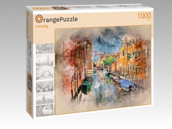 """Puzzle Motiv """"Venedig"""" - Puzzle-Schachtel zu 1000 Teile Puzzle"""