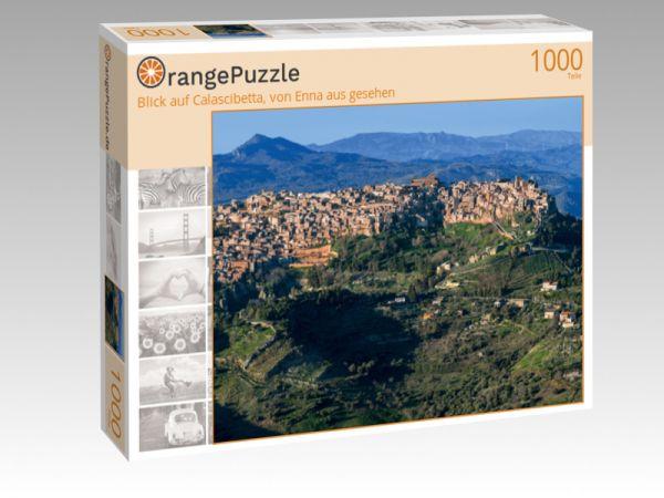 """Puzzle Motiv """"Blick auf Calascibetta, von Enna aus gesehen"""" - Puzzle-Schachtel zu 1000 Teile Puzzle"""