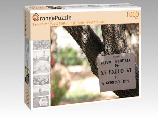 """Puzzle Motiv """"Besuch von Papst Paul VI. in Jerusalem im Jahre 1964"""" - Puzzle-Schachtel zu 1000 Teile Puzzle"""