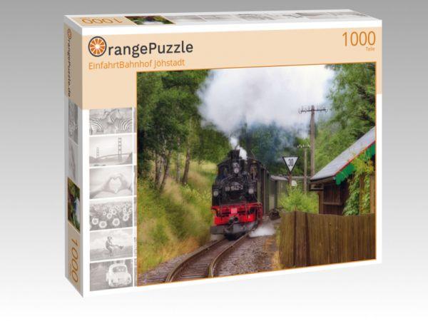 "Puzzle Motiv ""EinfahrtBahnhof Jöhstadt"" - Puzzle-Schachtel zu 1000 Teile Puzzle"