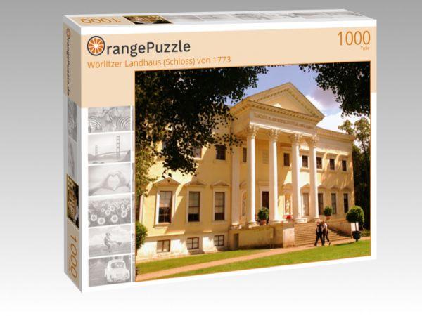 """Puzzle Motiv """"Wörlitzer Landhaus (Schloss) von 1773"""" - Puzzle-Schachtel zu 1000 Teile Puzzle"""