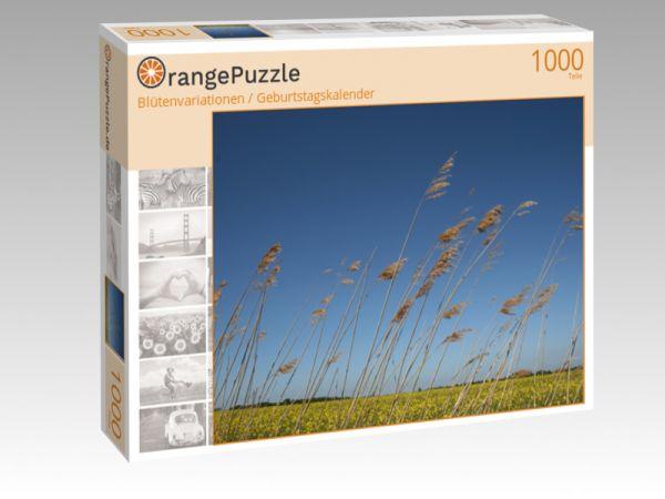 """Puzzle Motiv """"Blütenvariationen / Geburtstagskalender"""" - Puzzle-Schachtel zu 1000 Teile Puzzle"""