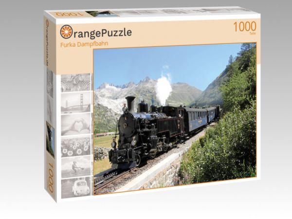 "Puzzle Motiv ""Furka Dampfbahn"" - Puzzle-Schachtel zu 1000 Teile Puzzle"