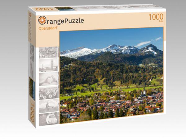 "Puzzle Motiv ""Oberstdorf"" - Puzzle-Schachtel zu 1000 Teile Puzzle"