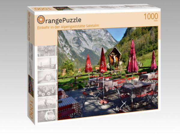 """Puzzle Motiv """"Einkehr in der Alpengaststätte Saletalm"""" - Puzzle-Schachtel zu 1000 Teile Puzzle"""