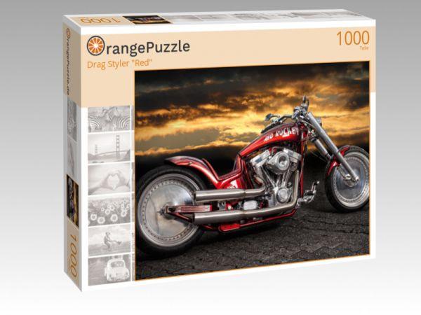 "Puzzle Motiv ""Drag Styler ""Red"""" - Puzzle-Schachtel zu 1000 Teile Puzzle"