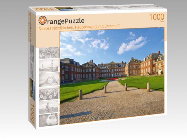 """Puzzle Motiv """"Schloss Nordkirchen, Haupteingang mit Ehrenhof"""" - Puzzle-Schachtel zu 1000 Teile Puzzle"""