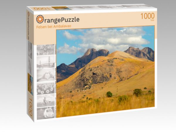 """Puzzle Motiv """"Felsen bei Ambalavao"""" - Puzzle-Schachtel zu 1000 Teile Puzzle"""
