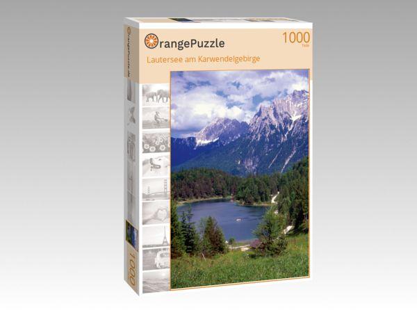 """Puzzle Motiv """"Lautersee am Karwendelgebirge"""" - Puzzle-Schachtel zu 1000 Teile Puzzle"""