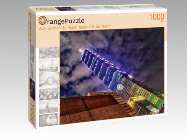 """Puzzle Motiv """"Wahrzeichen der Stadt. Taipei 101 bei Nacht"""" - Puzzle-Schachtel zu 1000 Teile Puzzle"""