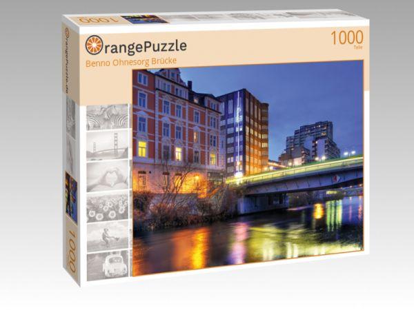 """Puzzle Motiv """"Benno Ohnesorg Brücke"""" - Puzzle-Schachtel zu 1000 Teile Puzzle"""
