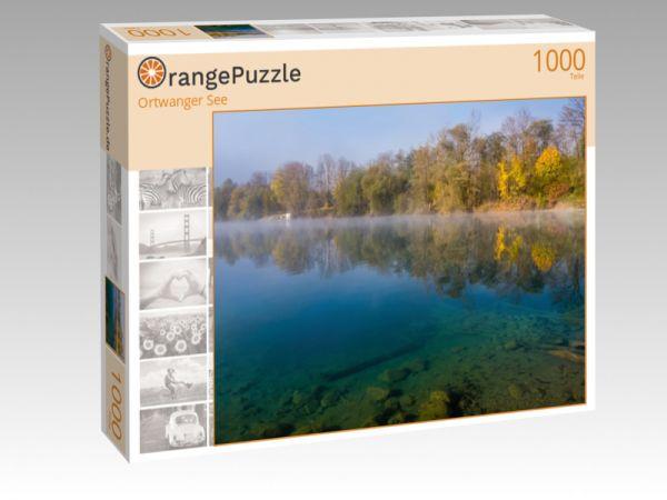 """Puzzle Motiv """"Ortwanger See"""" - Puzzle-Schachtel zu 1000 Teile Puzzle"""