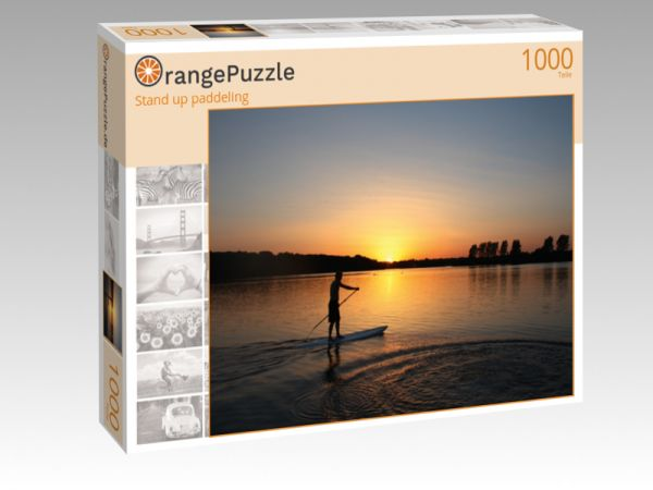 "Puzzle Motiv ""Stand up paddeling"" - Puzzle-Schachtel zu 1000 Teile Puzzle"