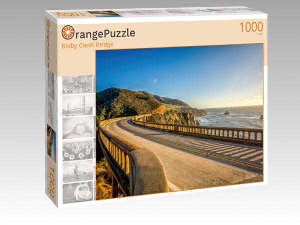 """Puzzle Motiv """"Bixby Creek Bridge"""" - Puzzle-Schachtel zu 1000 Teile Puzzle"""