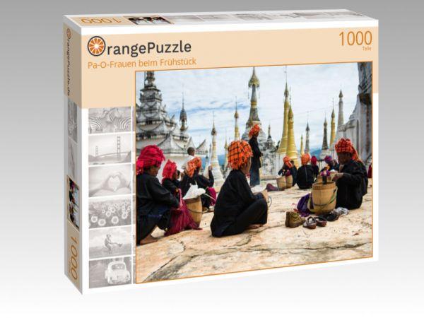 """Puzzle Motiv """"Pa-O-Frauen beim Frühstück"""" - Puzzle-Schachtel zu 1000 Teile Puzzle"""