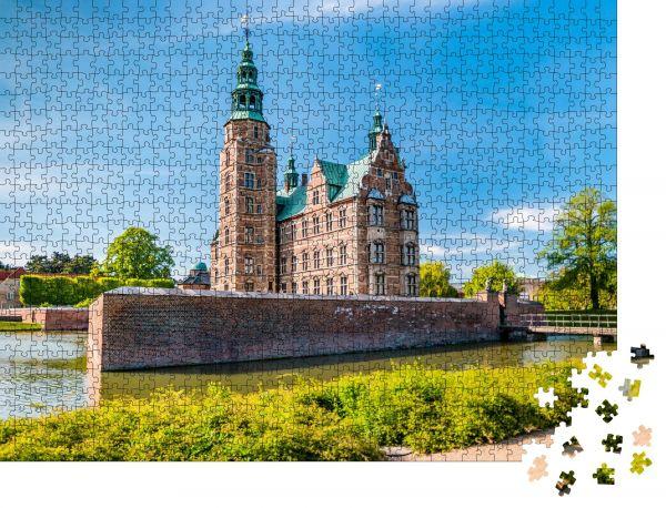 """Puzzle-Motiv """"Das Schloss Rosenborg in Kopenhagen, Dänemark. Holländischer Renaissance-Stil"""" - Puzzle-Schachtel zu 1000 Teile Puzzle"""