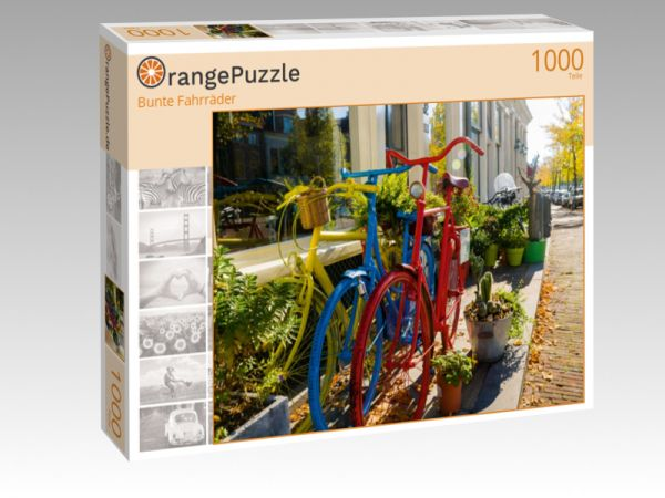 """Puzzle Motiv """"Bunte Fahrräder"""" - Puzzle-Schachtel zu 1000 Teile Puzzle"""
