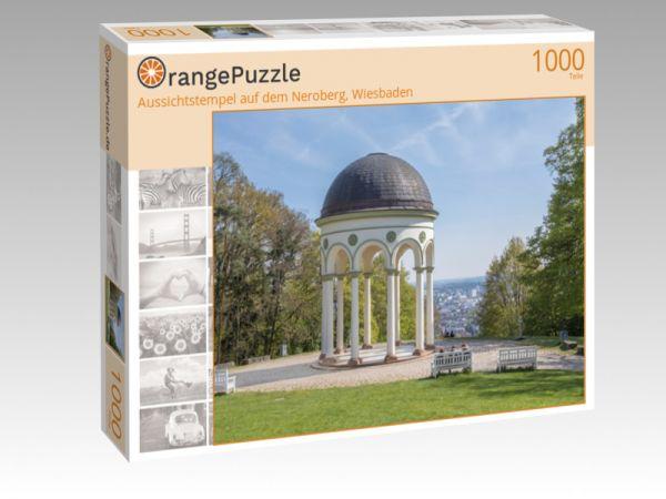 """Puzzle Motiv """"Aussichtstempel auf dem Neroberg, Wiesbaden"""" - Puzzle-Schachtel zu 1000 Teile Puzzle"""