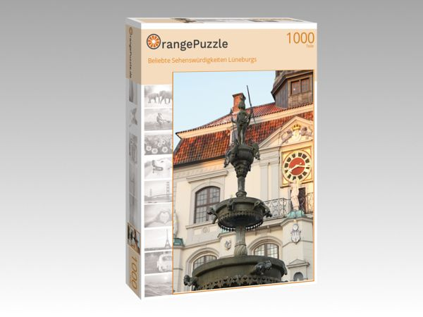 """Puzzle Motiv """"Beliebte Sehenswürdigkeiten Lüneburgs"""" - Puzzle-Schachtel zu 1000 Teile Puzzle"""