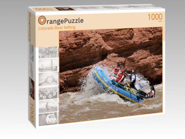"""Puzzle Motiv """"Colorado River Rafting"""" - Puzzle-Schachtel zu 1000 Teile Puzzle"""
