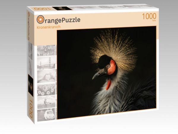 "Puzzle Motiv ""Kronenkranich"" - Puzzle-Schachtel zu 1000 Teile Puzzle"
