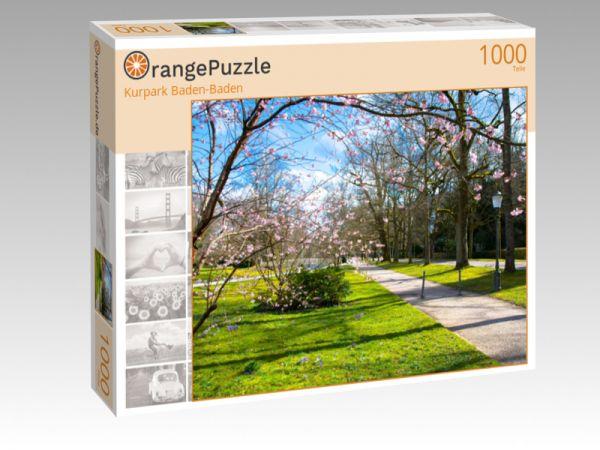 "Puzzle Motiv ""Kurpark Baden-Baden"" - Puzzle-Schachtel zu 1000 Teile Puzzle"