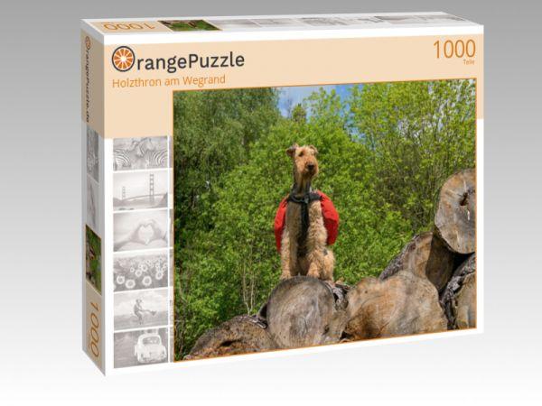 "Puzzle Motiv ""Holzthron am Wegrand"" - Puzzle-Schachtel zu 1000 Teile Puzzle"