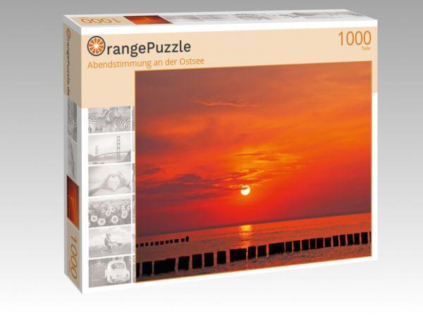 """Puzzle Motiv """"Abendstimmung an der Ostsee"""" - Puzzle-Schachtel zu 1000 Teile Puzzle"""