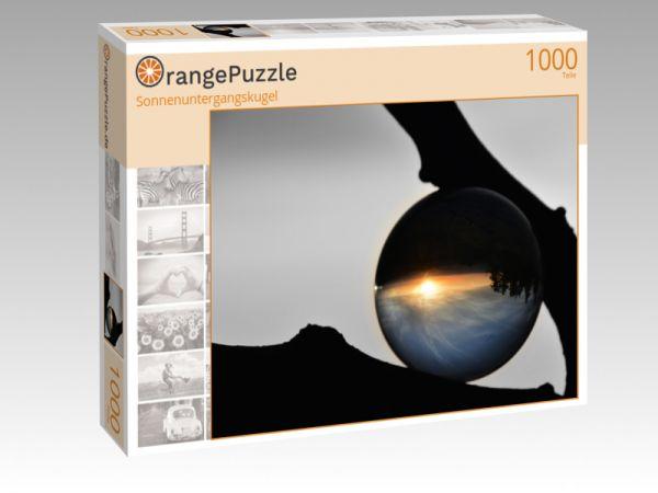 """Puzzle Motiv """"Sonnenuntergangskugel"""" - Puzzle-Schachtel zu 1000 Teile Puzzle"""