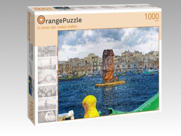 """Puzzle Motiv """"In einer der vielen Häfen"""" - Puzzle-Schachtel zu 1000 Teile Puzzle"""