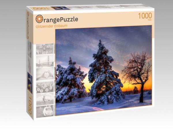 """Puzzle Motiv """"Glitzernder Eisbaum"""" - Puzzle-Schachtel zu 1000 Teile Puzzle"""