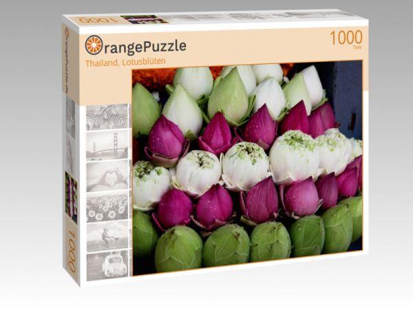 """Puzzle Motiv """"Thailand, Lotusblüten"""" - Puzzle-Schachtel zu 1000 Teile Puzzle"""