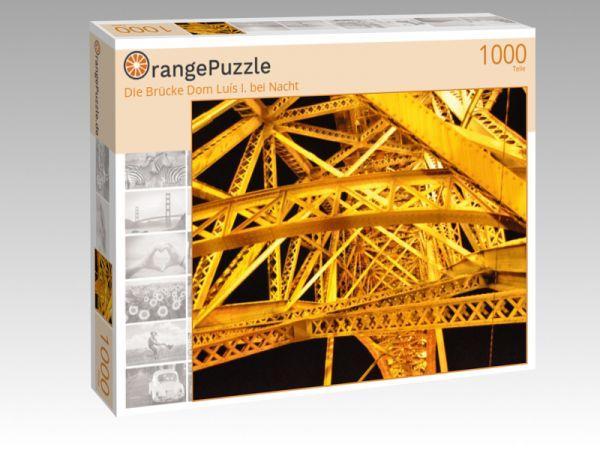 """Puzzle Motiv """"Die Brücke Dom Luís I. bei Nacht"""" - Puzzle-Schachtel zu 1000 Teile Puzzle"""