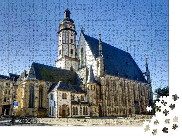 """Puzzle-Motiv """"Thomaskirche in Leipzig, Sachsen, Deutschland"""" - Puzzle-Schachtel zu 1000 Teile Puzzle"""