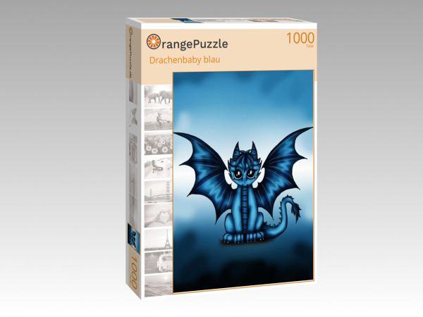 """Puzzle Motiv """"Drachenbaby blau"""" - Puzzle-Schachtel zu 1000 Teile Puzzle"""