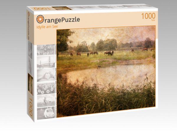 """Puzzle Motiv """"Idylle am See"""" - Puzzle-Schachtel zu 1000 Teile Puzzle"""