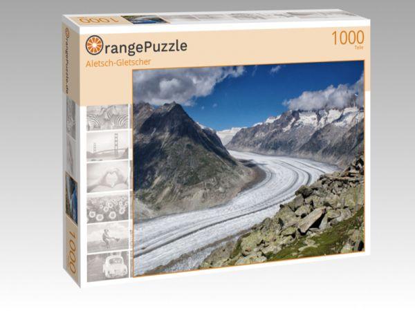 """Puzzle Motiv """"Aletsch-Gletscher"""" - Puzzle-Schachtel zu 1000 Teile Puzzle"""