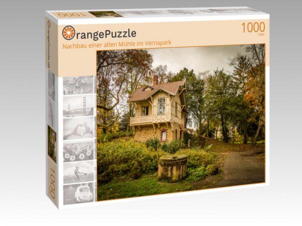 """Puzzle Motiv """"Nachbau einer alten Mühle im Vernapark"""" - Puzzle-Schachtel zu 1000 Teile Puzzle"""